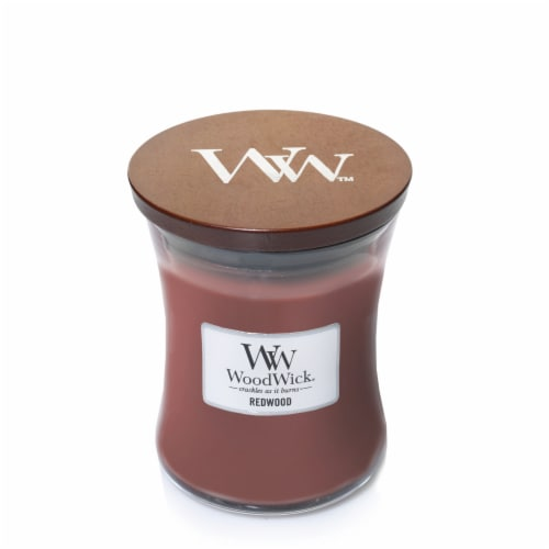 WoodWick® Redwood Medium Hourglass Candle – Red Perspective: front