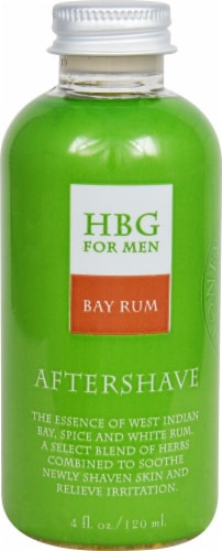 Honeybee Gardens  Herbal Aftershave Bay Rum Perspective: front