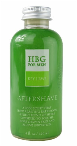 Honeybee Gardens Men's Key Lime Herbal Aftershave Perspective: front