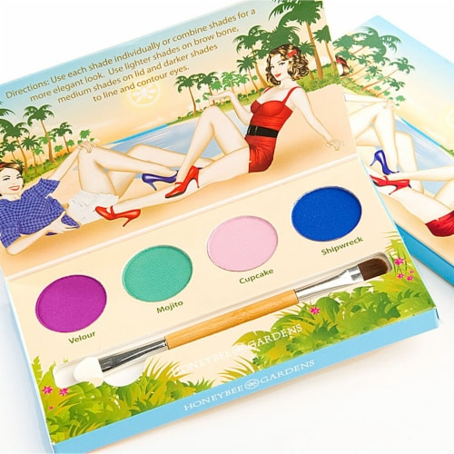 Honeybee Gardens  Eye Shadow Palette Party Girl Perspective: front
