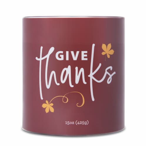 Carolina Harvest Sayings Give Thanks Candle - Red Perspective: front