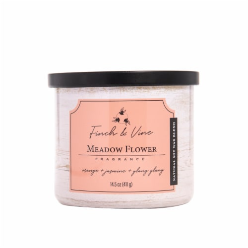 Finch & Vine Meadow Flower Fragranced Candle Perspective: front