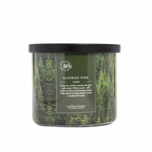Colonial Candle® Alaskan Pine Glass Jar Candle Perspective: front