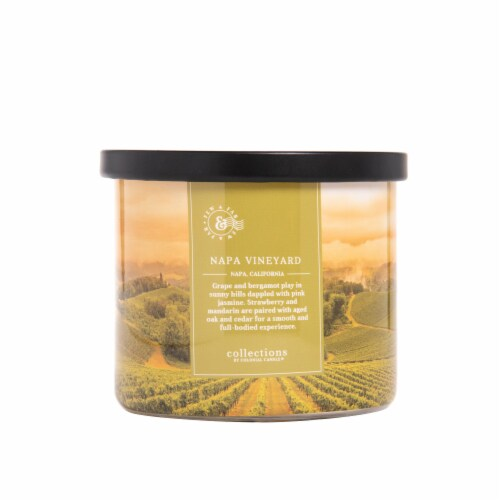 Colonial Candle® Napa Vineyard Glass Jar Candle Perspective: front