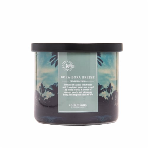 Colonial Candle® Bora Bora Breeze Glass Jar Candle Perspective: front