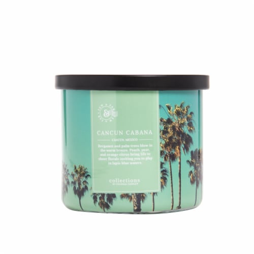 Colonial Candle® Cancun Cabana Glass Jar Candle Perspective: front