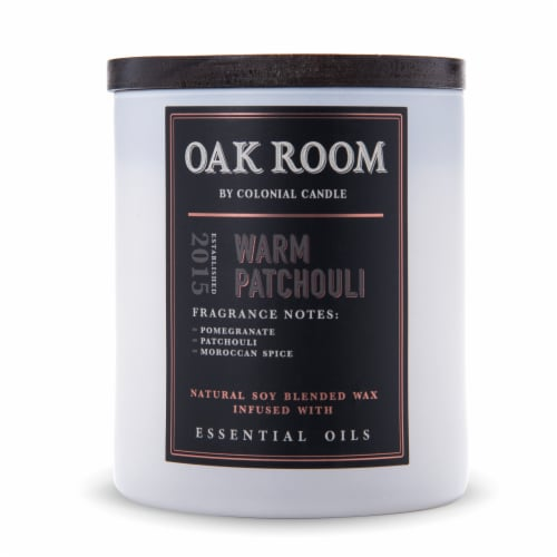 Colonial Candle® Oak Room Candle - Warm Patchouli Perspective: front