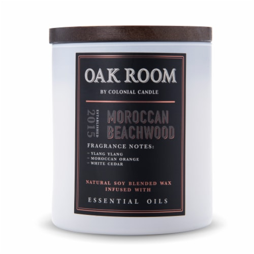 Colonial Candle® Oak Room Candle - Moroccan Beachwood Perspective: front