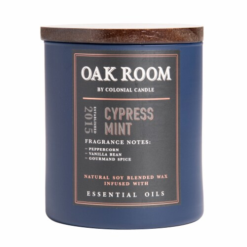 Colonial Candle® Oak Room Candle - Cypress Mint Perspective: front