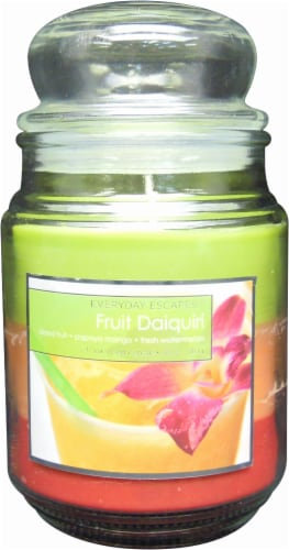 Everyday Escapes Fruit Daiquiri Jar Candle - 18 Ounce - Multi-Color Perspective: front