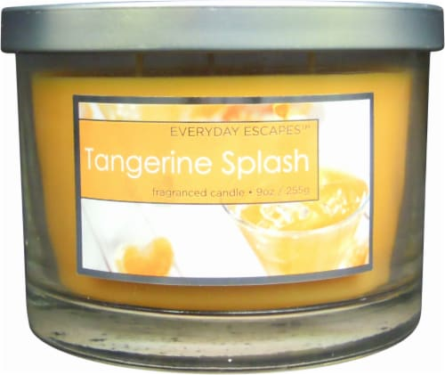 Everyday Escapes™ Tangerine Splash Jar Candle - 9 Ounce - Orange Perspective: front