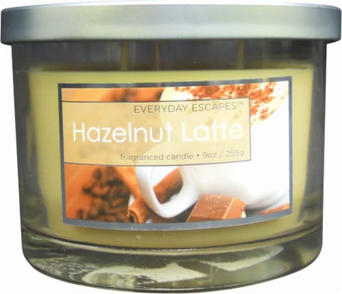Everyday Escapes Hazelnut Latte Jar Candle - 9 Ounce - Cream Perspective: front