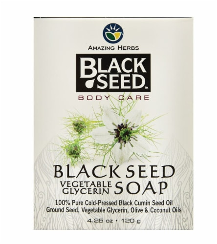 Amazing Herbs Black Seed Vegetable Glycerin Soap Perspective: front