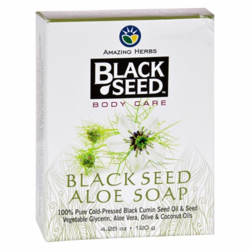 Amazing Herbs Black Seed Aloe Bar Soap Perspective: front