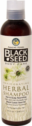 Amazing Herbs  Black Seed Herbal Shampoo Perspective: front