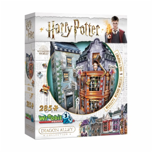 Wrebbit Diagon Alley Collection Weasleys Wizard Wheezes & Daily Prophet 3D Puzzle Perspective: front