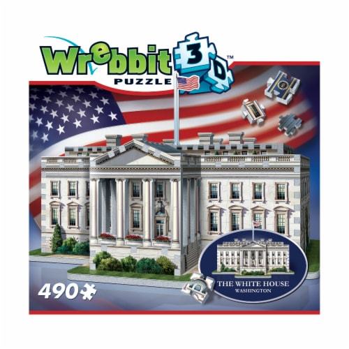 Wrebbit The White House 3D Puzzle Perspective: front