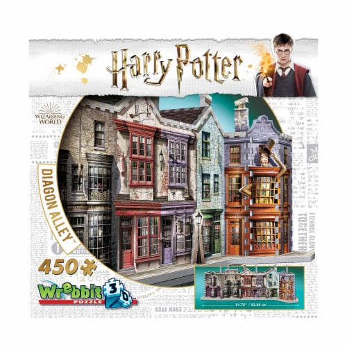 Wrebbit Harry Potter Collection Diagon Alley 3D Puzzle Perspective: front