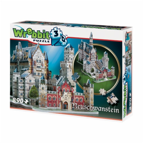 Wrebbit Neuschwanstein Castle 3D Puzzle Perspective: front