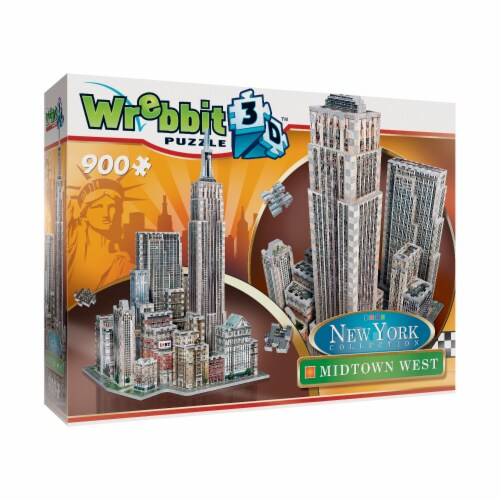 Wrebbit New York Collection Midtown West 3D Puzzle Perspective: front