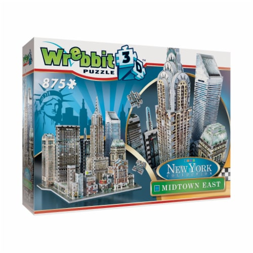 Wrebbit New York Collection Midtown East 3D Puzzle Perspective: front