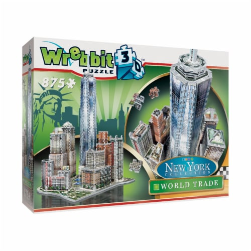 Wrebbit New York Collection World Trade Center 3D Puzzle Perspective: front