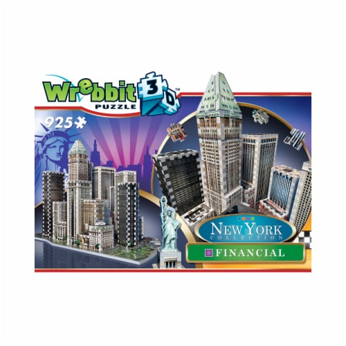 Wrebbit New York Collection Financial 3D Puzzle Perspective: front