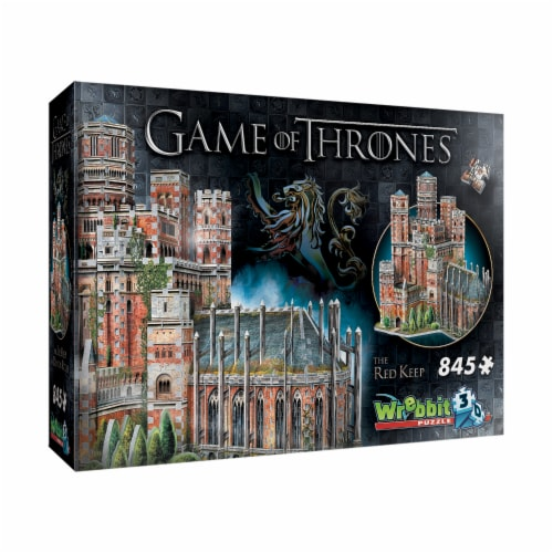 Wrebbit Game of Thrones The Red Keep 3D Puzzle Perspective: front