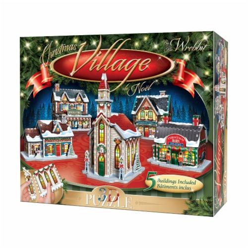 Wrebbit Christmas Village 3D Puzzle Perspective: front