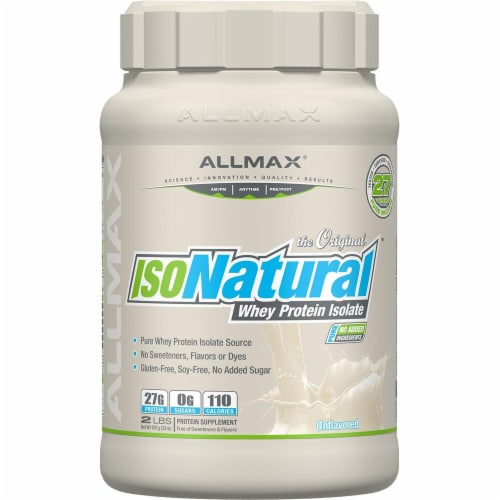 ALLMAX Nutrition  IsoNatural™ Pure Whey Protein Isolate   Unflavored Perspective: front