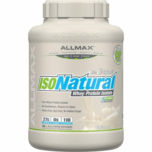 ALLMAX Nutrition  IsoNatural™ Whey Protein Isolate   Unflavored Perspective: front