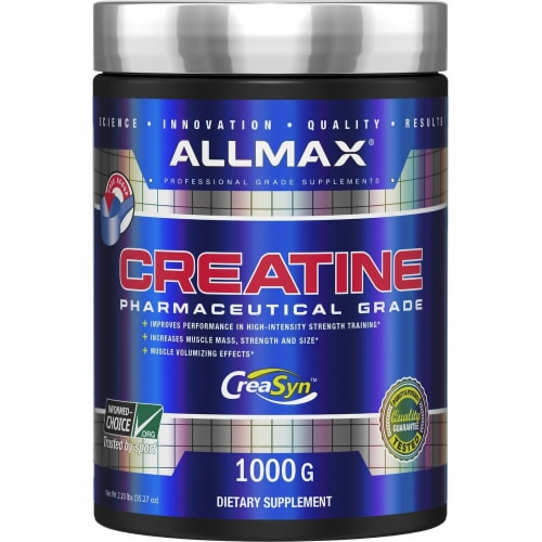ALLMAX Nutrition  Creatine Pharmaceutical Grade Dietary Supplement Perspective: front