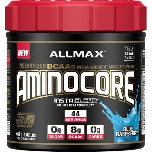 ALLMAX Nutrition  Aminocore™   Blue Raspberry Perspective: front