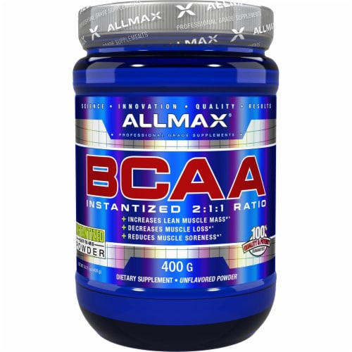 ALLMAX Nutrition BCAA - Unflavored Perspective: front