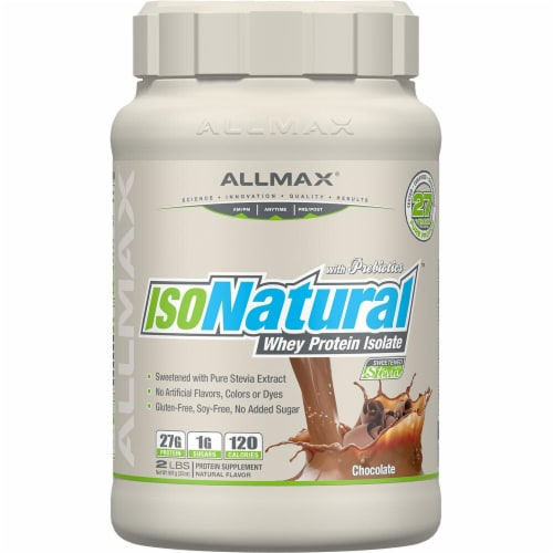 ALLMAX Nutrition  IsoNatural™ Whey Protein Isolate   Chocolate Perspective: front