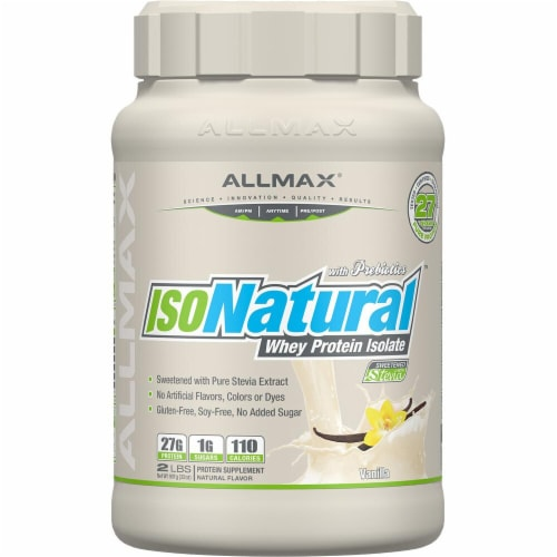 ALLMAX Nutrition  IsoNatural™ Whey Protein Isolate   Vanilla Perspective: front