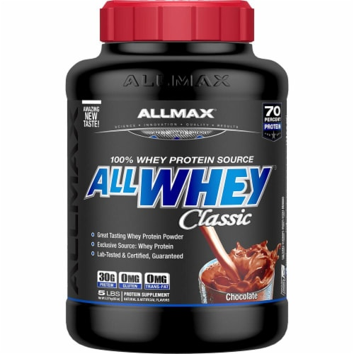 ALLMAX Nutrition  ALLWHEY® CLASSIC Pure Whey Protein Blend   Chocolate Perspective: front