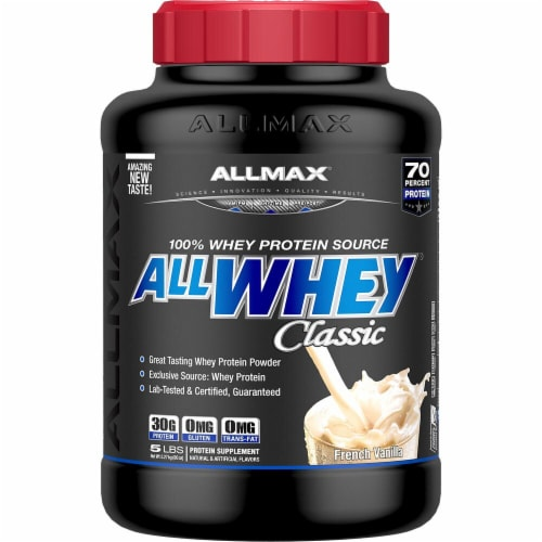 ALLMAX Nutrition  ALLWHEY® CLASSIC Pure Whey Protein Blend   French Vanilla Perspective: front