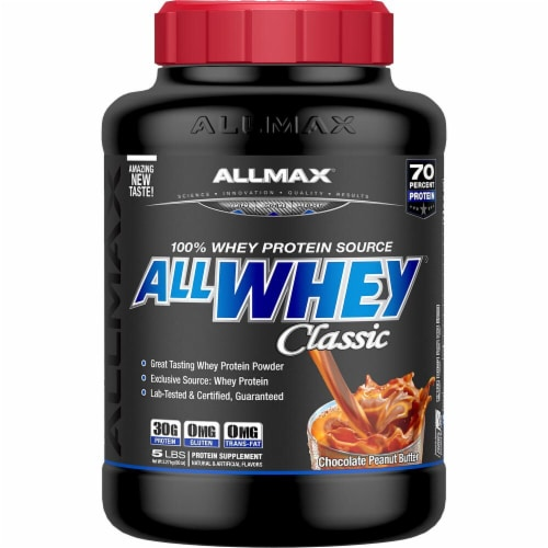 ALLMAX Nutrition  ALLWHEY® CLASSIC Pure Whey Protein Blend   Chocolate Peanut Butter Perspective: front