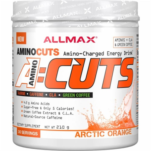 ALLMAX Nutrition  A-Cuts™ Amino-Charged Energy Drink   Arctic Orange Perspective: front