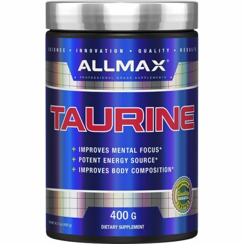 ALLMAX Nutrition Taurine Supplement Powder Perspective: front