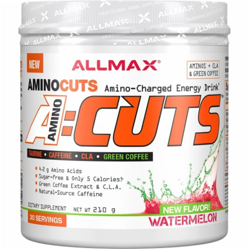 ALLMAX Nutrition  A-Cuts™ Amino-Charged Energy Drink   Watermelon Perspective: front
