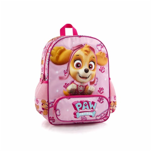 Paw Patrol Deluxe Skye School Backpack Bag with Front Pocket Perspective: front