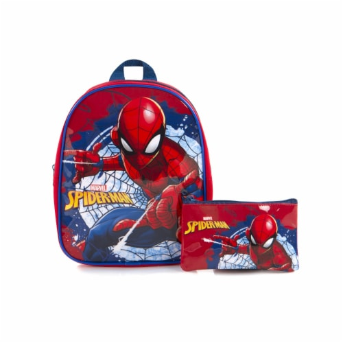 Spider-Man Toddler Backpack with Pencil Case Perspective: front