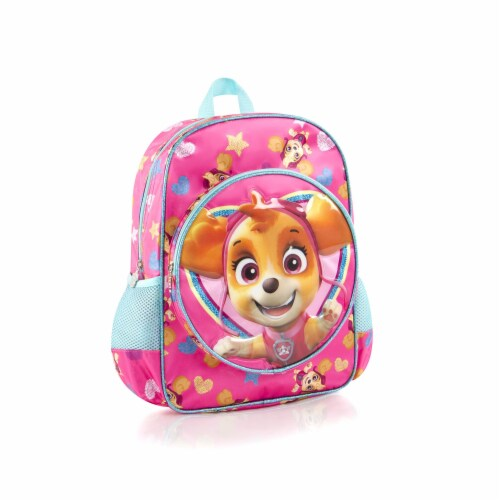 Paw Patrol Deluxe Shimmer Skye School Backpack Bag Perspective: front