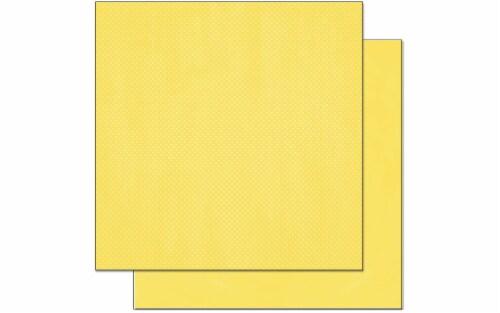 Bo Bunny Double Dot Paper 12x12 Lemonade Perspective: front