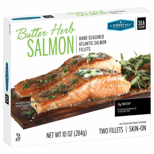 C.Wirthy & Co. Butter Herb Atlantic Salmon Fillets Perspective: front