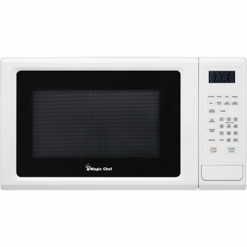 MAGIC CHEF Countertop Microwave Oven- White Perspective: front