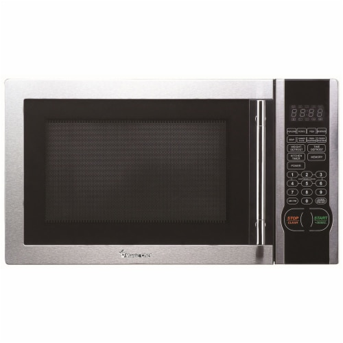 MAGIC CHEF 1000-Watt Countertop Microwave Oven - Silver Perspective: front