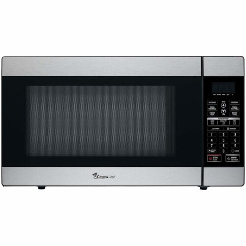 MAGIC CHEF 1100-Watt Countertop Microwave Oven - Stainless Steel Perspective: front